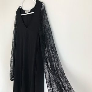 "Lovers + Friends Black Lace Sleeve ""Gracie"" Dress"